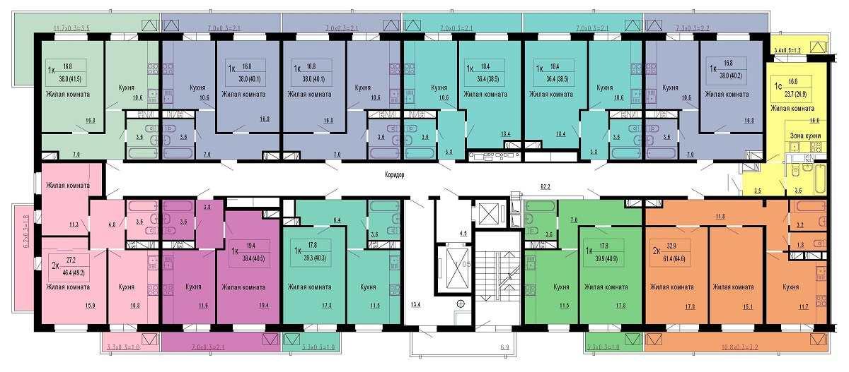 этаж 16-18